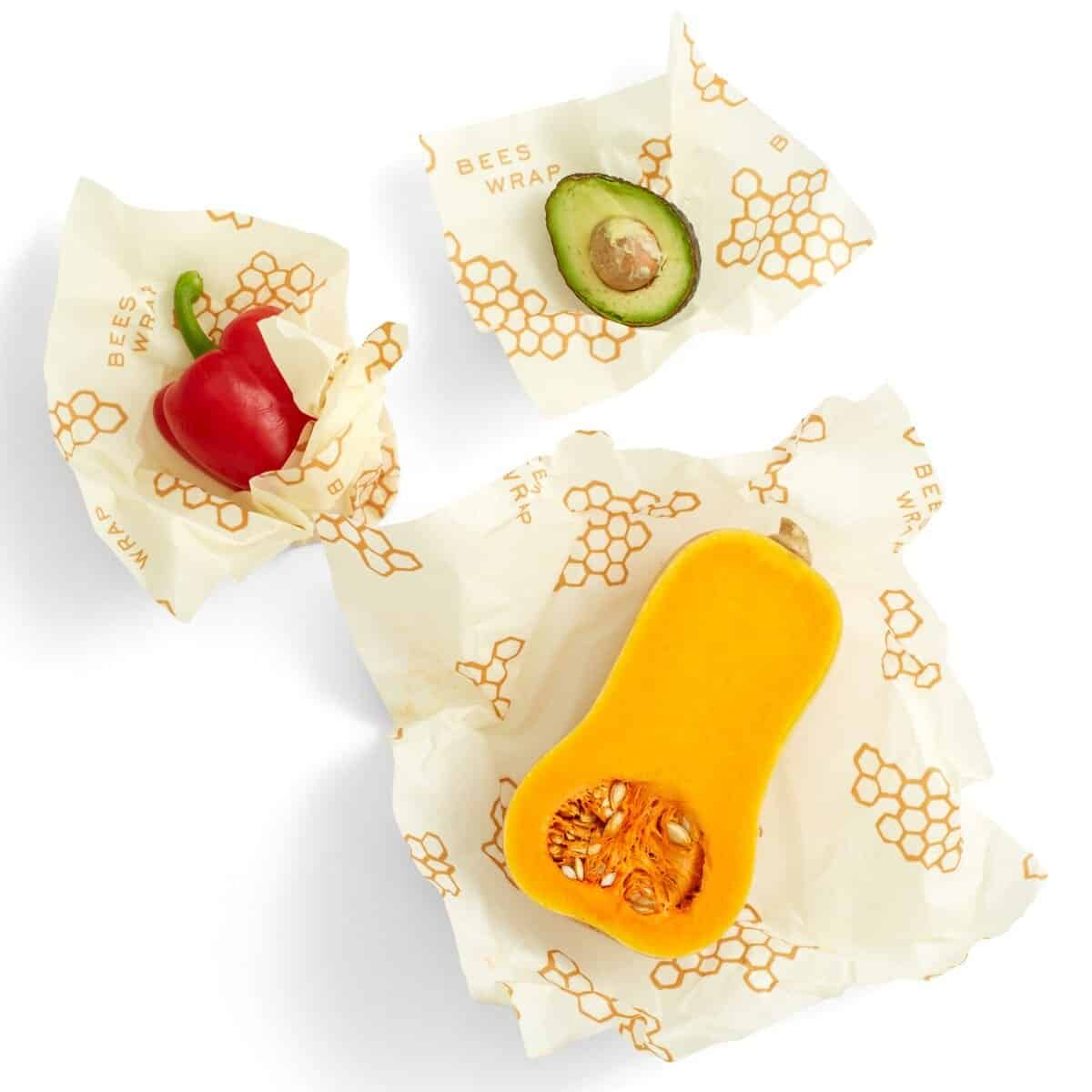 bees wrap with fruit