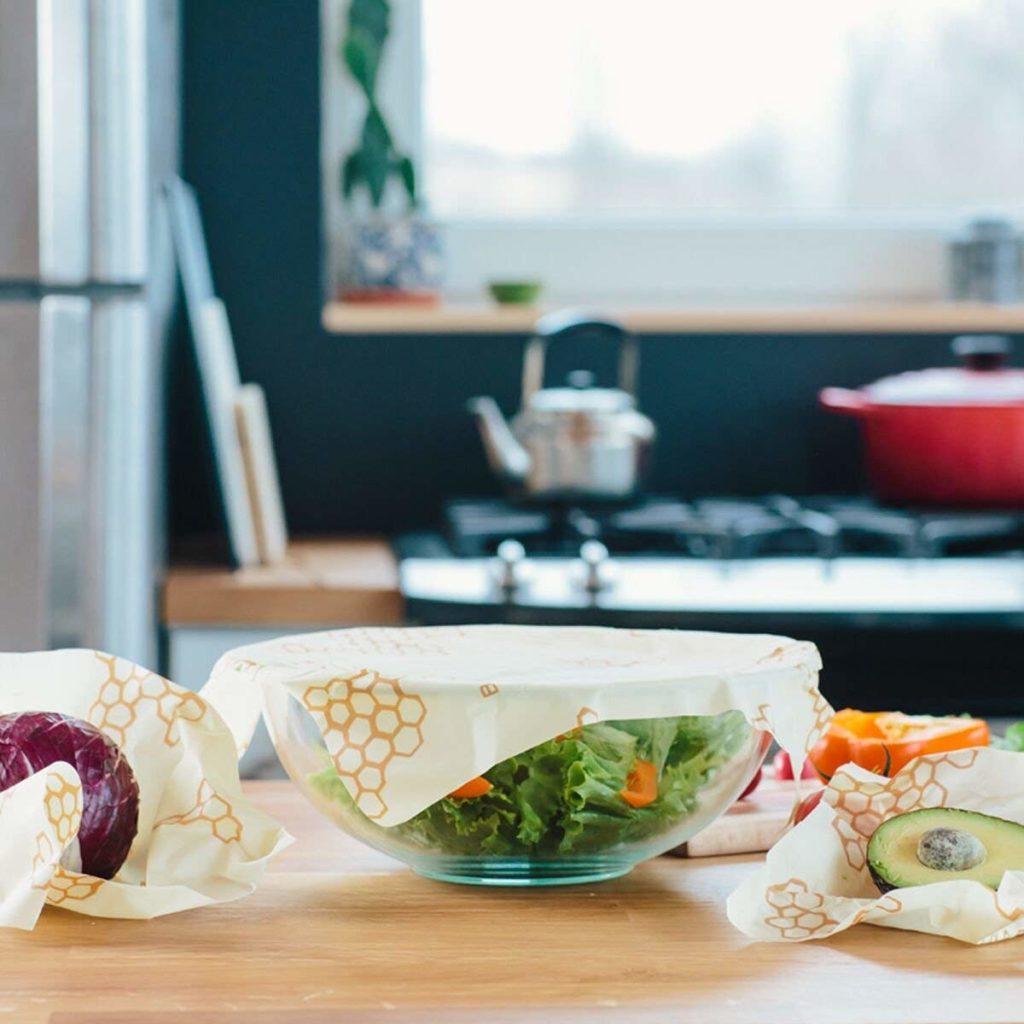 bee's wrap food wraps on countertop