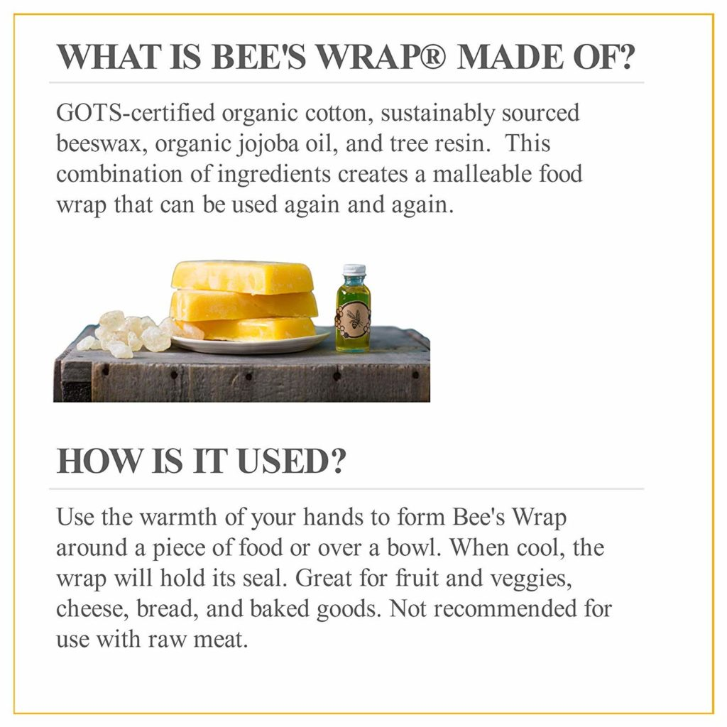 what is bee's wrap food wraps made of