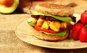 vegan breakfast sandwich/