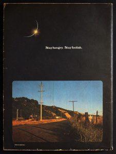 whole earth catalog back cover