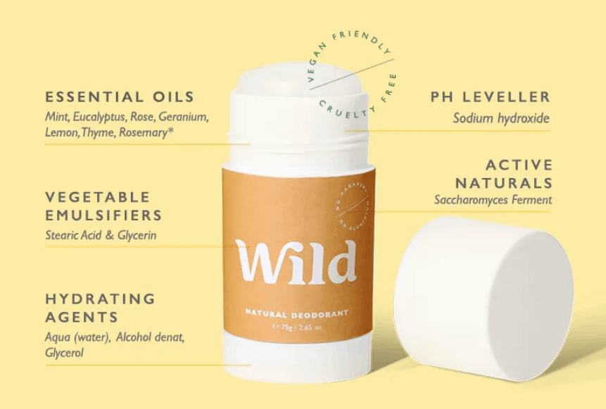 wild nautral and sustainable deodorant