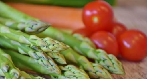 asparagus and tomatoes in your kitchen garden