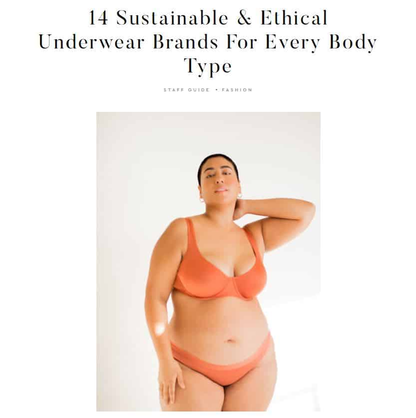 Sustainable And Ethical Underwear Brands
