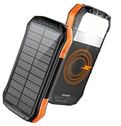 Solar Charger With Qi Wireless