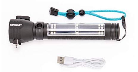 Portable E Lumen With Built-In Flashlight
