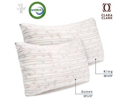 Clara Clark Shredded Memory Foam Pillows