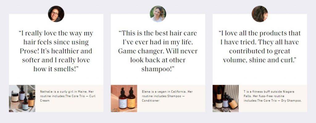 prose custom shampoo testimonials