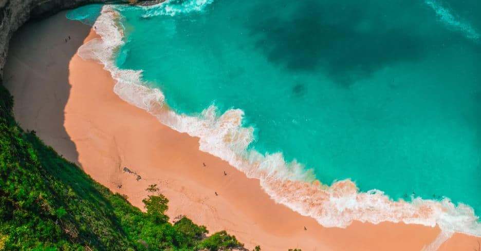 emoty beach in bali