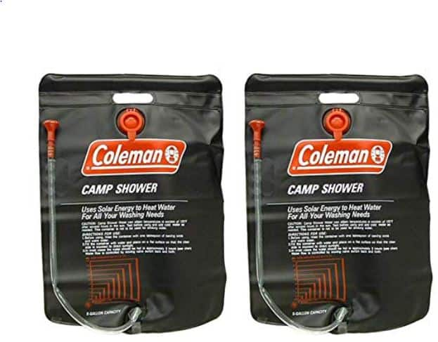 Coleman 5 Gallon PVC Solar Heated Water Camp Showers