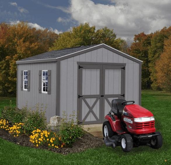 Elm 10 ft. x 12 ft. Wood Storage Shed Kit