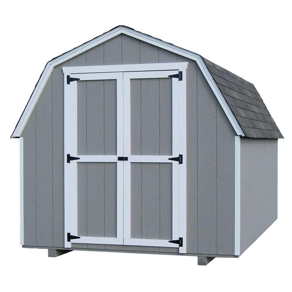 value gambrel wood storage building precut kit