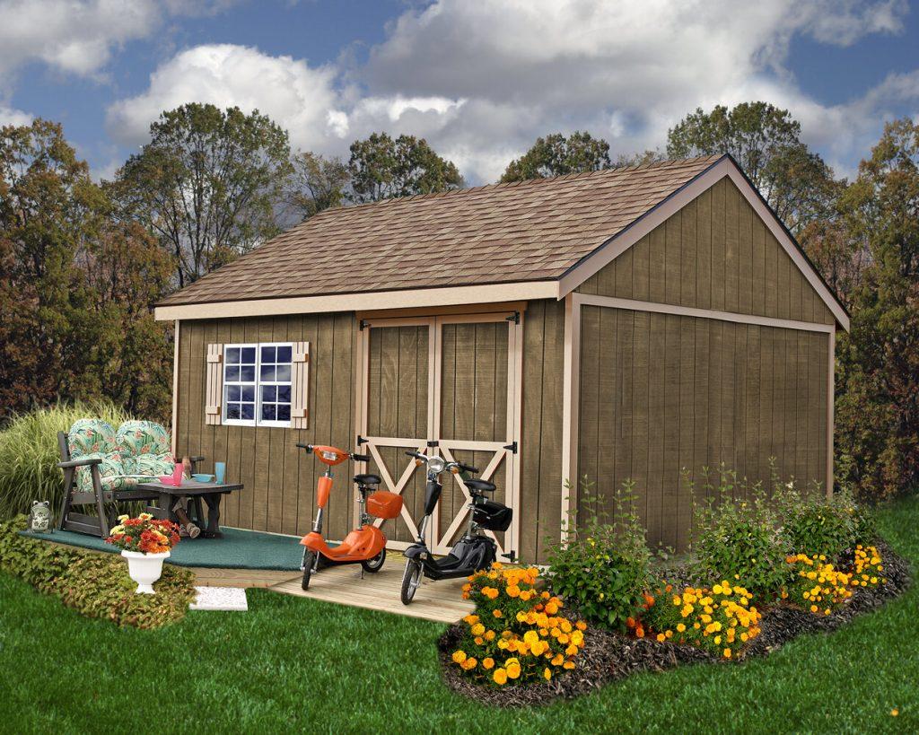 new castle wood storage shed kit