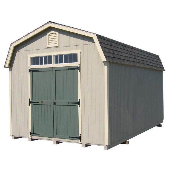 value workshop wood shed precut kit with floor