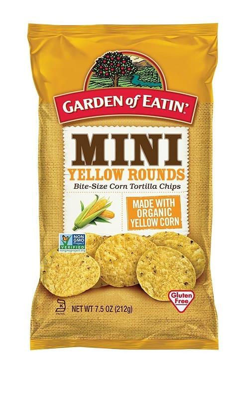 Garden of Eatin' Mini Yellow Rounds Corn Tortilla Chips The Best Vegan Chips