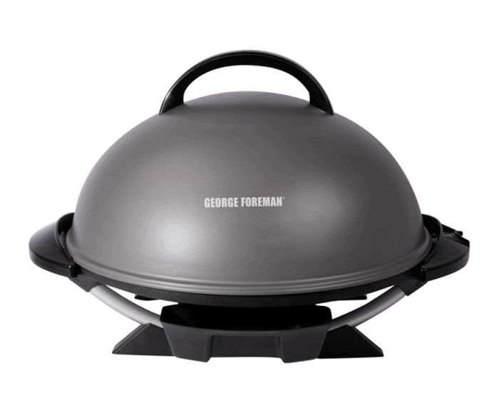 George Foreman Indoor/Outdoor Electric Grill, Silver