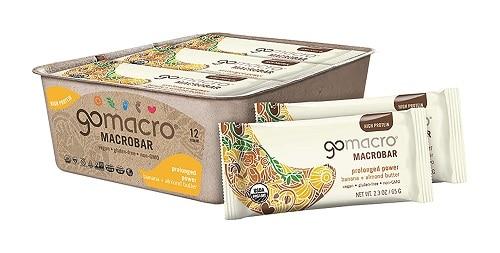 GoMacro MacroBar Organic Vegan Protein Bars Banana + Almond Butter