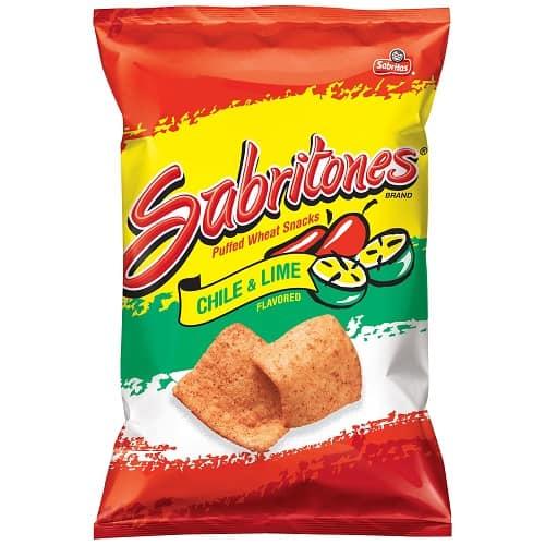 Sabritones Chile & Lime Puffed Wheat Snacks