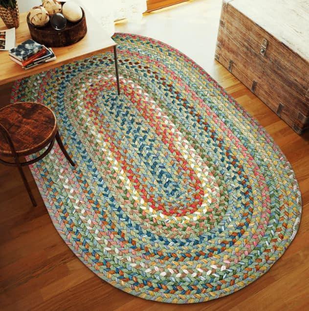 braided oval rug