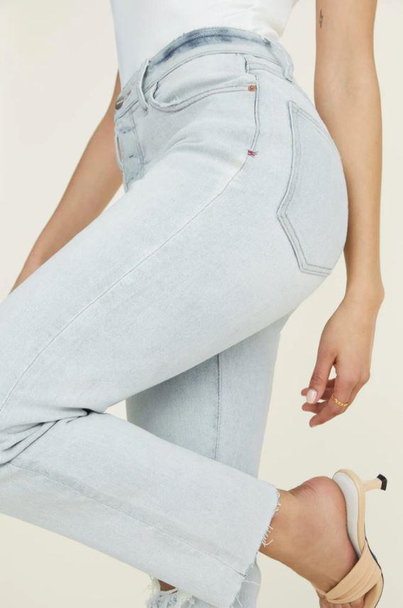 warp + weft blue women's jeans