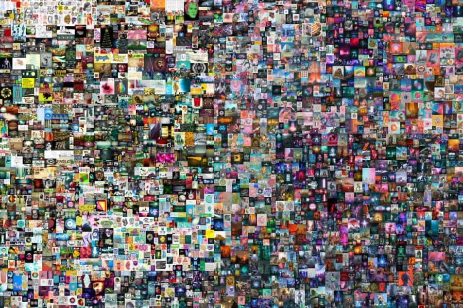 beeple collage NFT