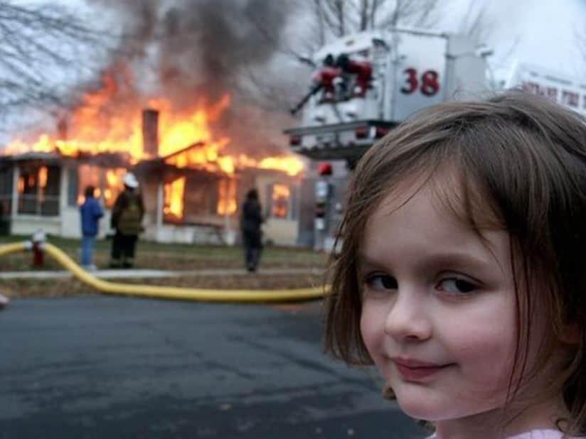 burning house girl meme