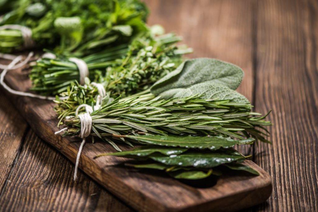fresh and dried herbs