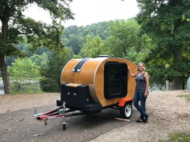 Teardrop Camper Made From Wood