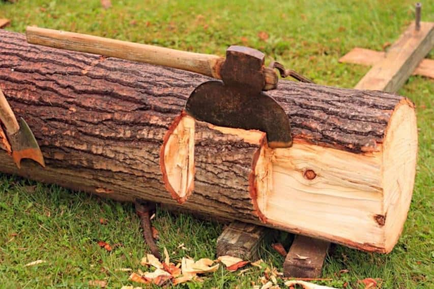 hewing wood